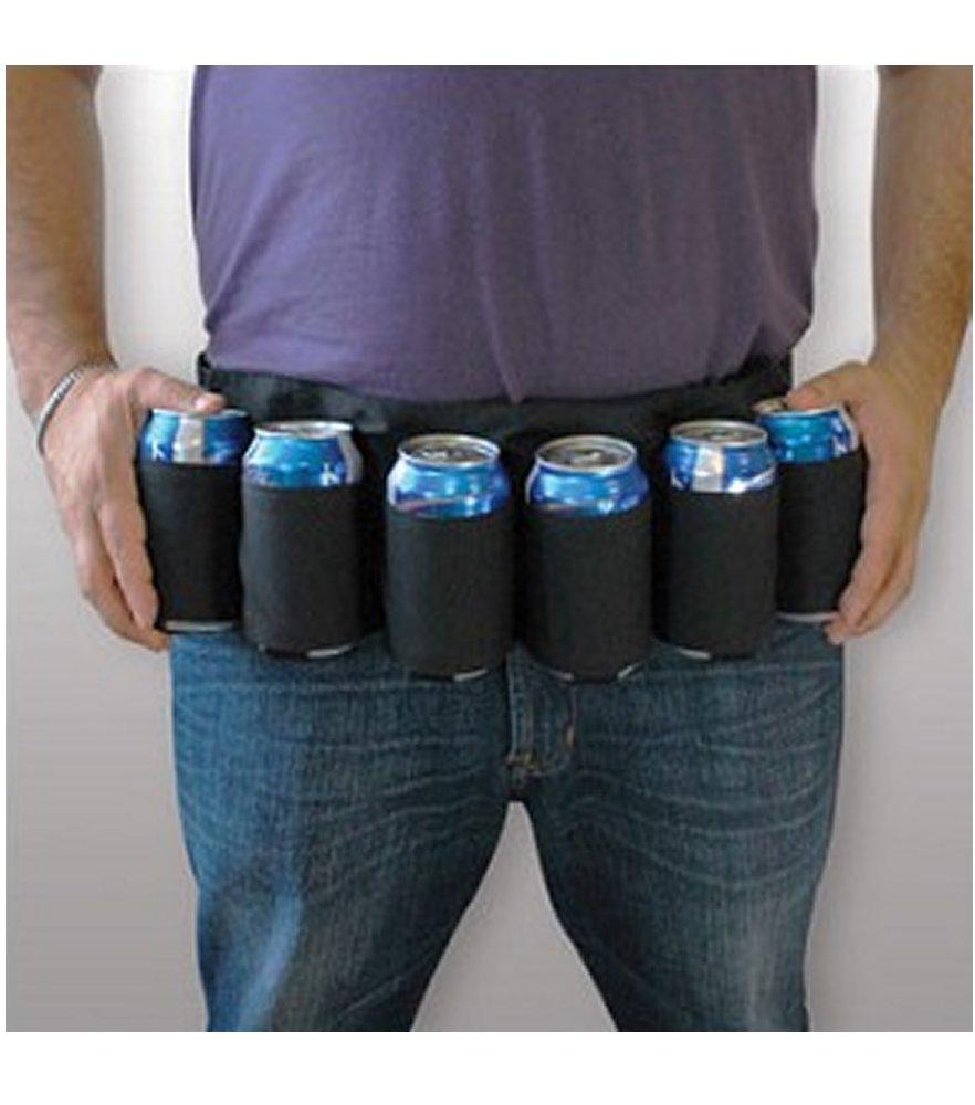 Drink Easy Black Six Pack Beer Belt