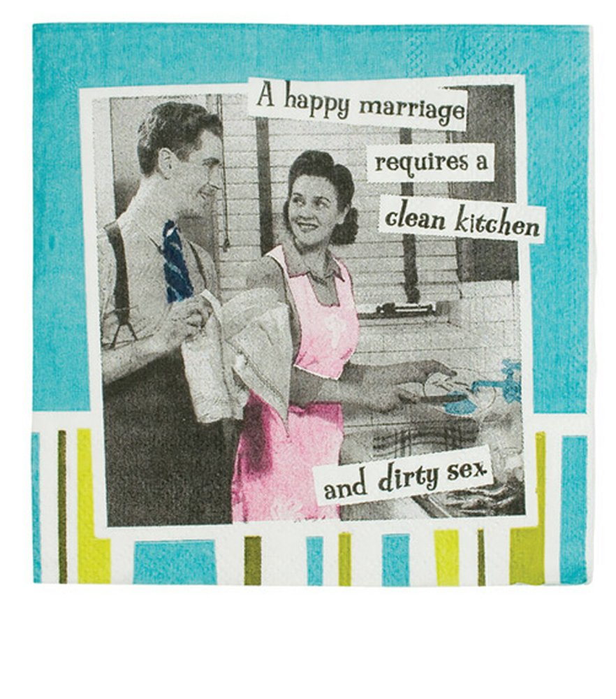 A Happy Marriage Requires.....Napkins