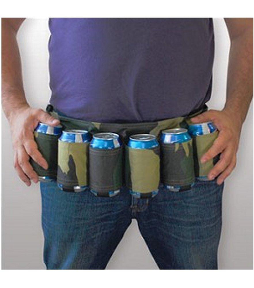 Drink Easy Camo Six Pack Beer Belt
