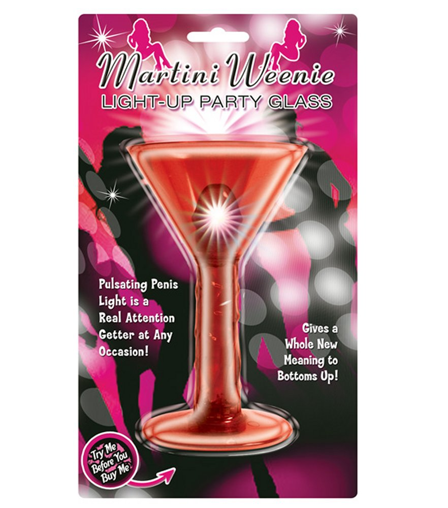 Martini Weenie Red Light Up Party Glass