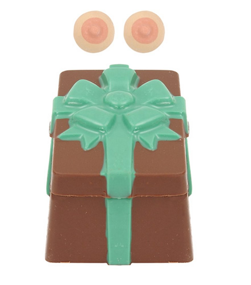 Holiday Milk Chocolate Box with Bow & Boobie Surprise