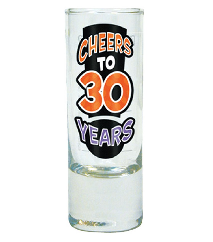 Cheers to 30 Years Shot Glass