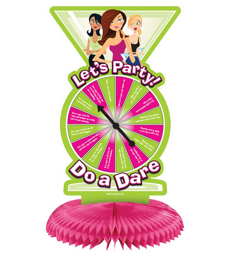 Let's Party Do a Dare Centerpiece Spinner Game