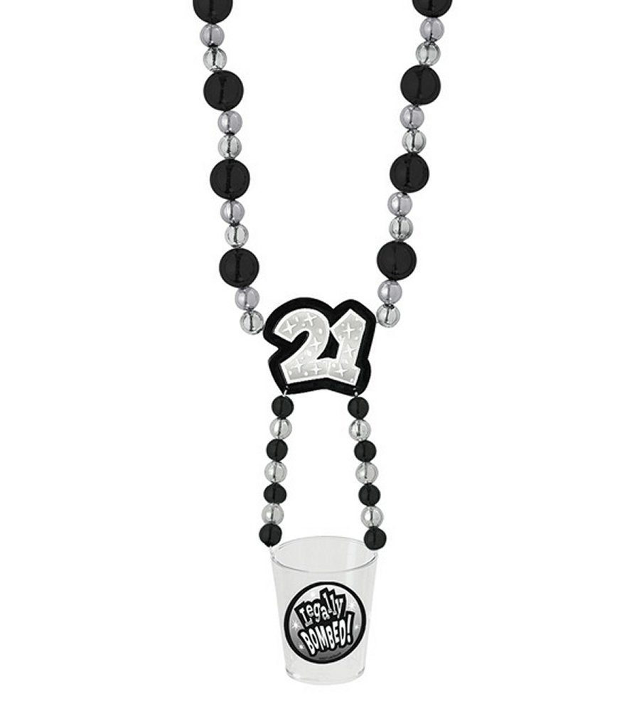 21 Party Swinger Party Beads with Shot Glass