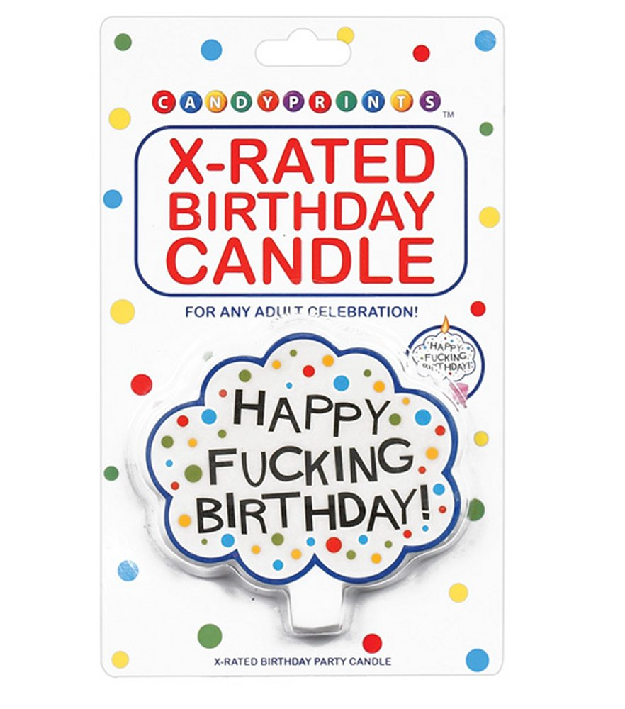 Happy Fucking Birthday Candle