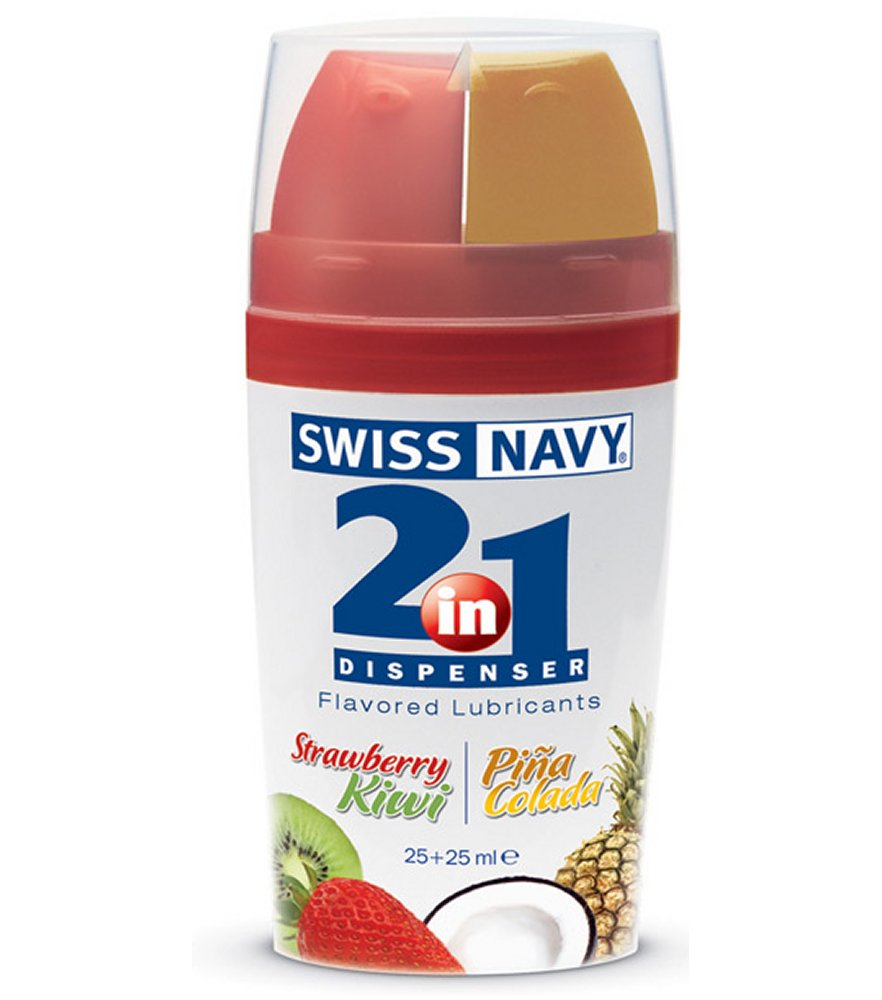 2 In 1 Strawberry Kiwi/Pina Colada Flavored Lubricants