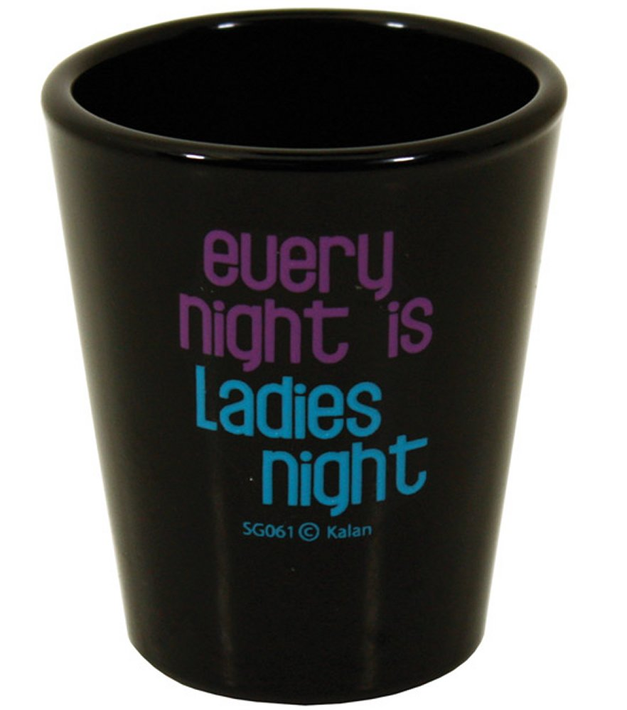 Every Night is Ladies Night Black Shot Glass