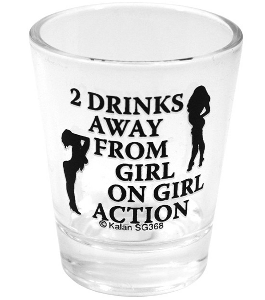 2 Drinks Away Shot Glass