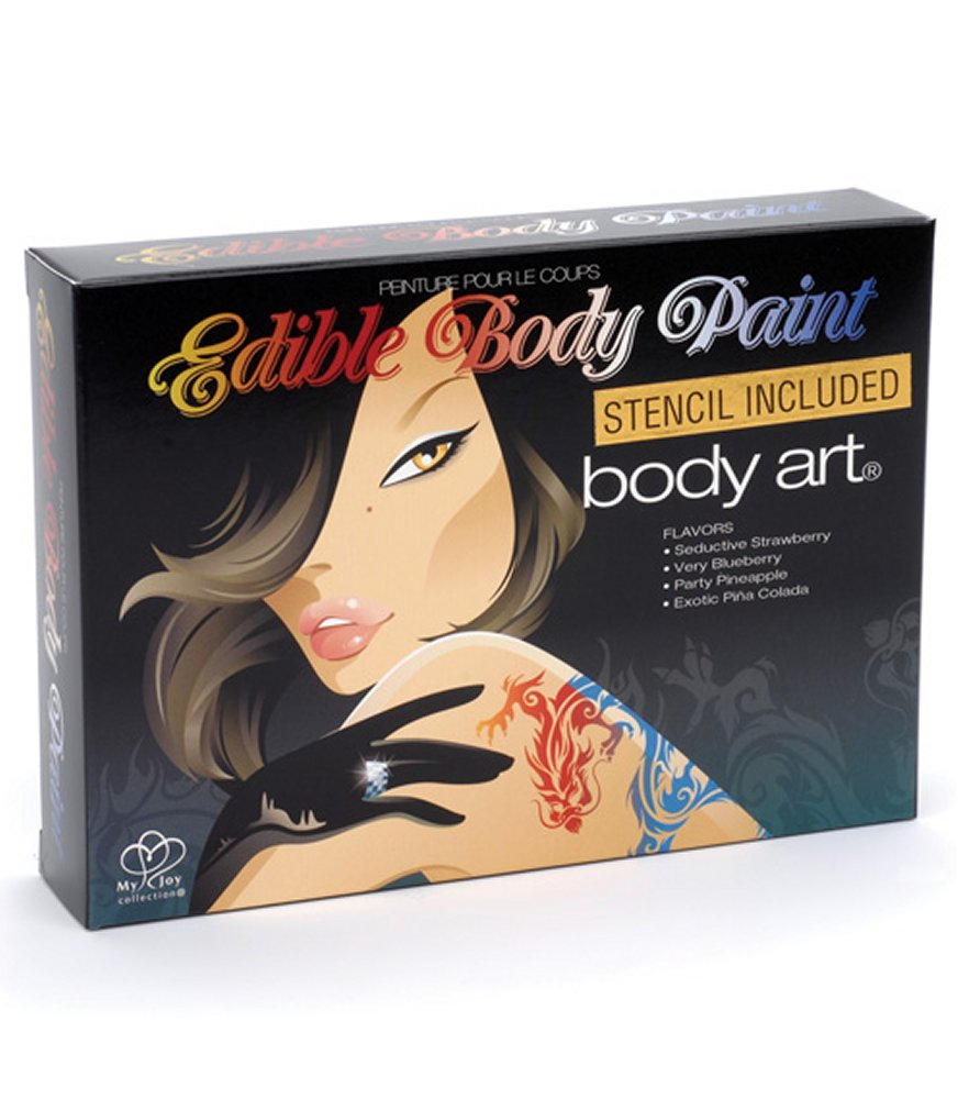 My Joy Edible Body Paints with Stencil