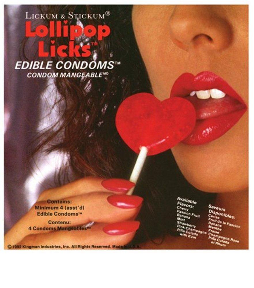 Lollipop Licks Edible Condoms
