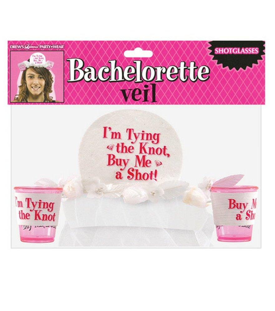 Bachelorette Veil with Shot Glasses