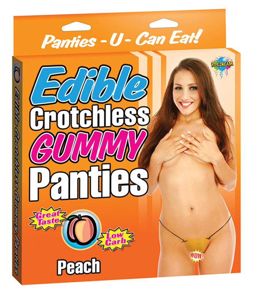 Edible Crotchless Peach Gummy Panty