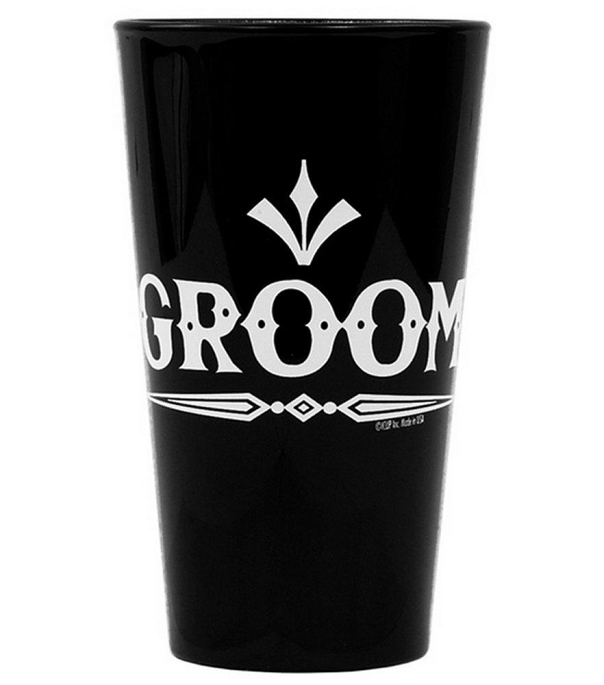 Groom Black Pint Glass