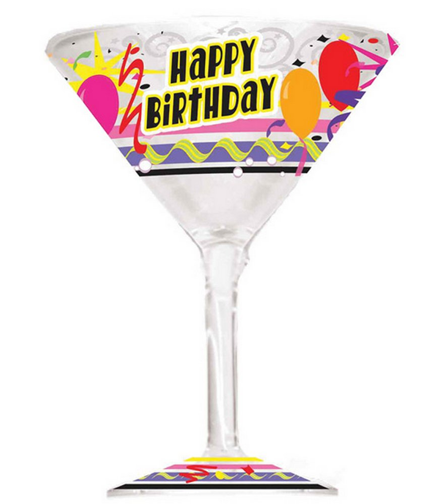 Happy Birthday Martini Glass