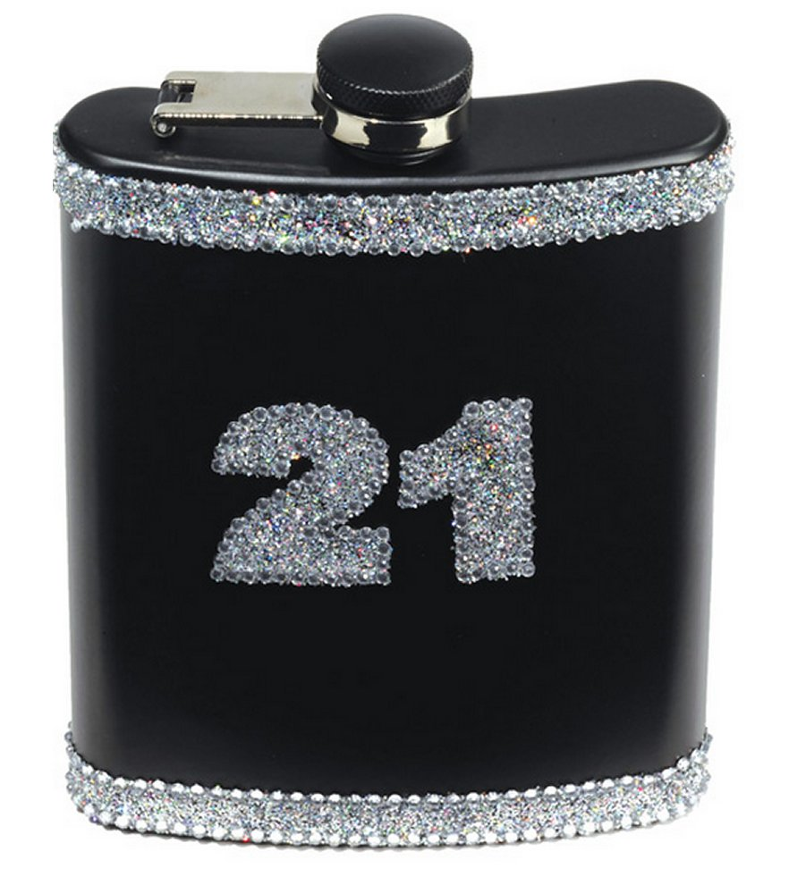 21st Birthday Flask