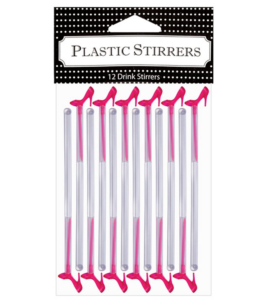 Pink Heel Glass Stirrer & Pick