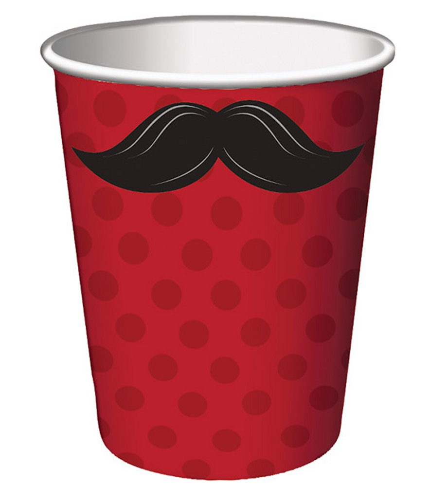 Mustache Madness 9 oz Cup