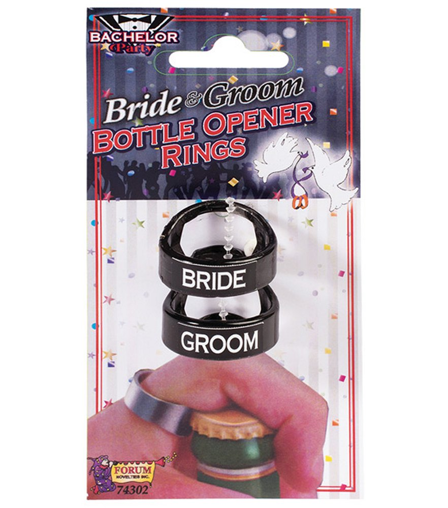 Bride & Groom Bottle Opener Rings