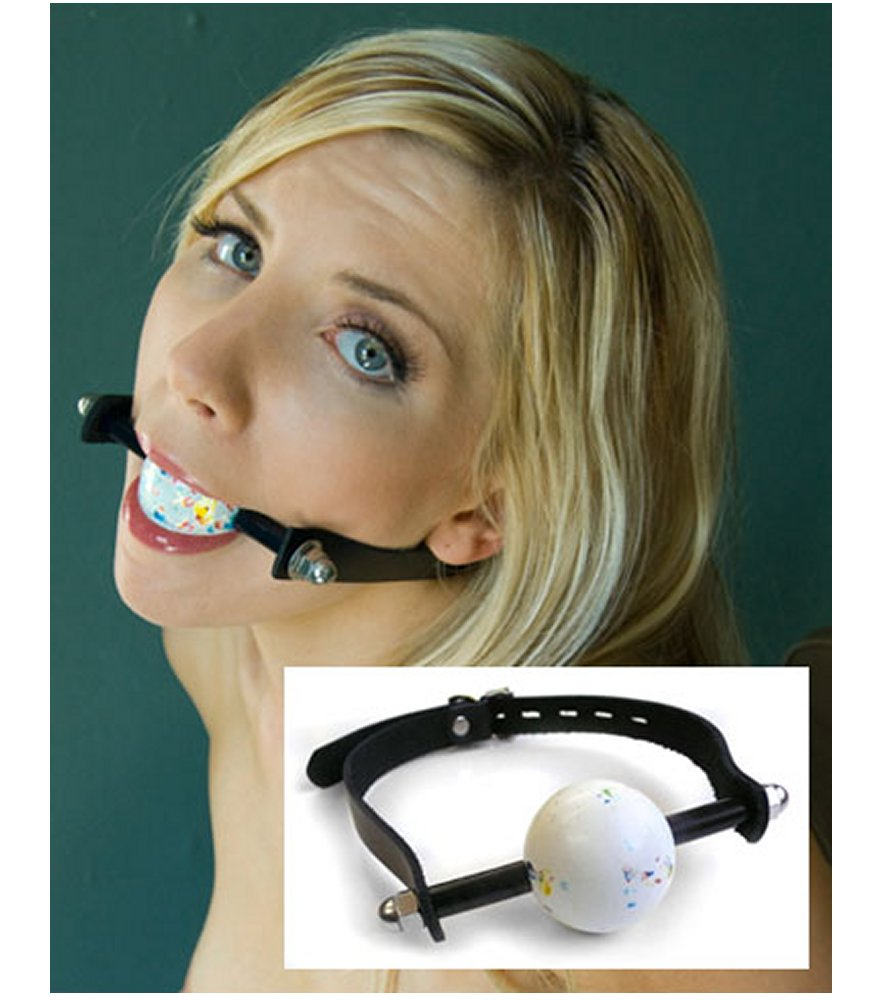 Kinklab Jawbreaker Ball Gag Black Leather