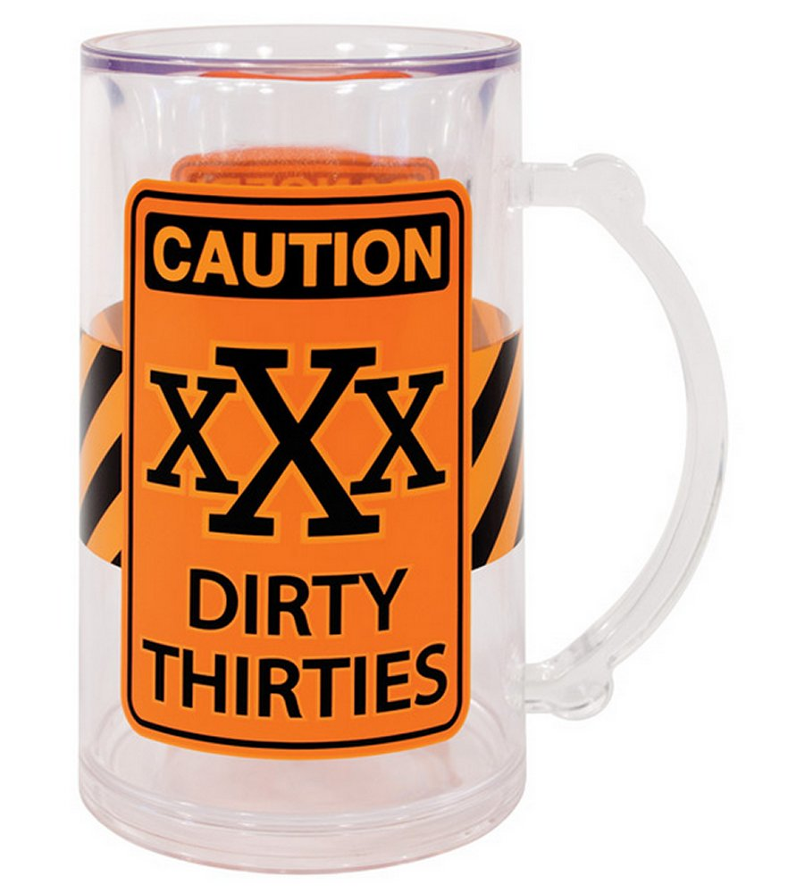 Caution XXX Dirty Thirties Tankard