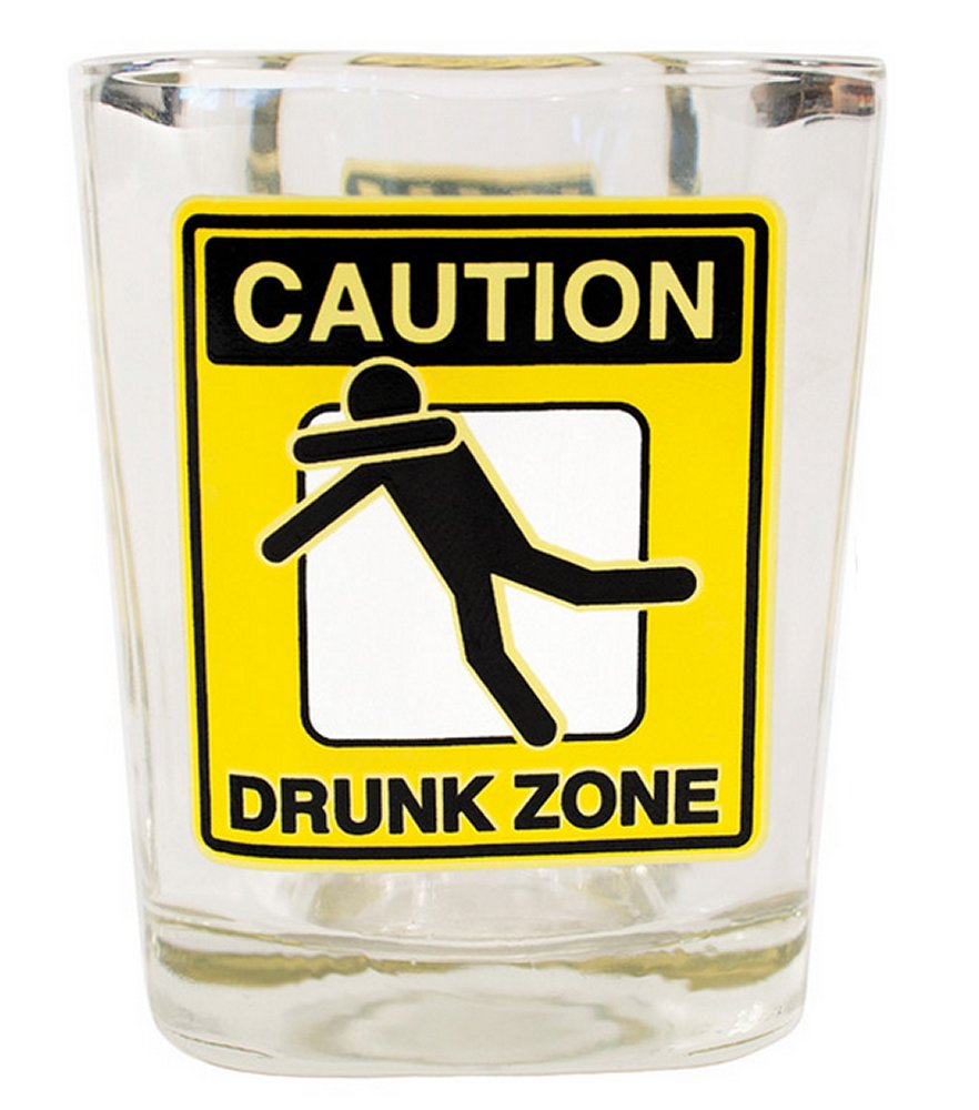 Drunk Zone Shot Glass