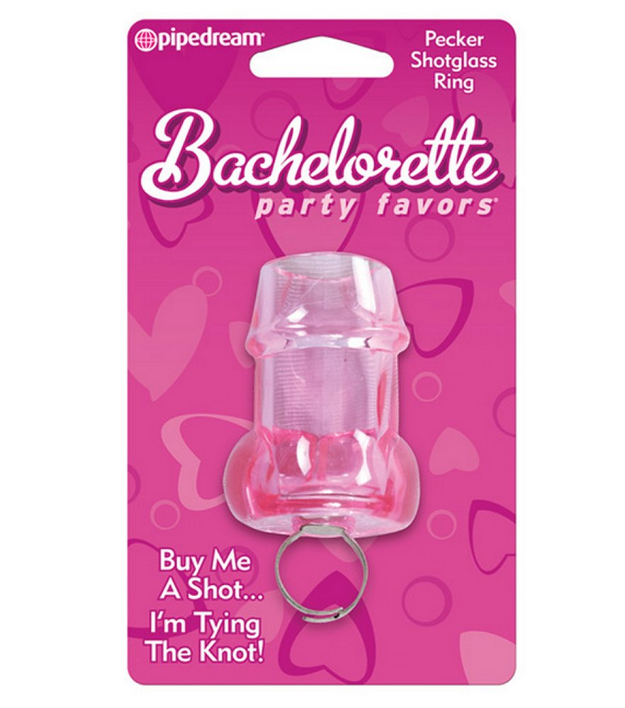Bachelorette Party Favors Pecker Shot Glass Ring