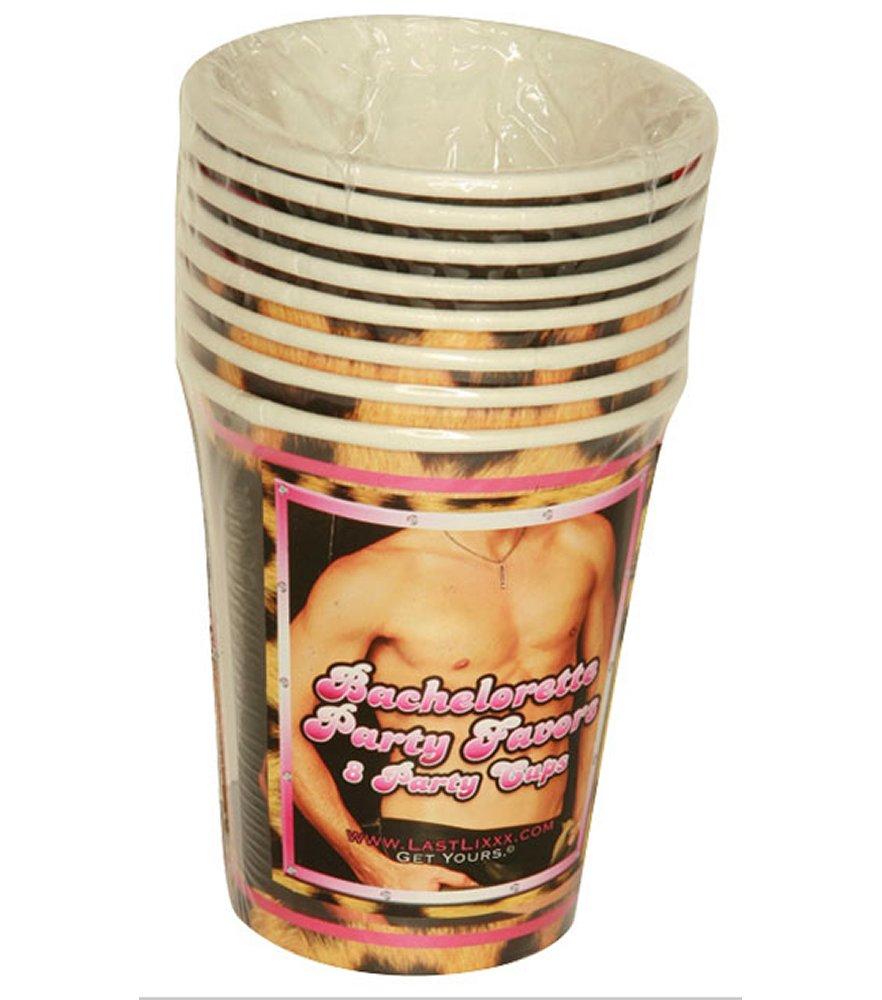 Bachelorette Leopard Hunk Cups