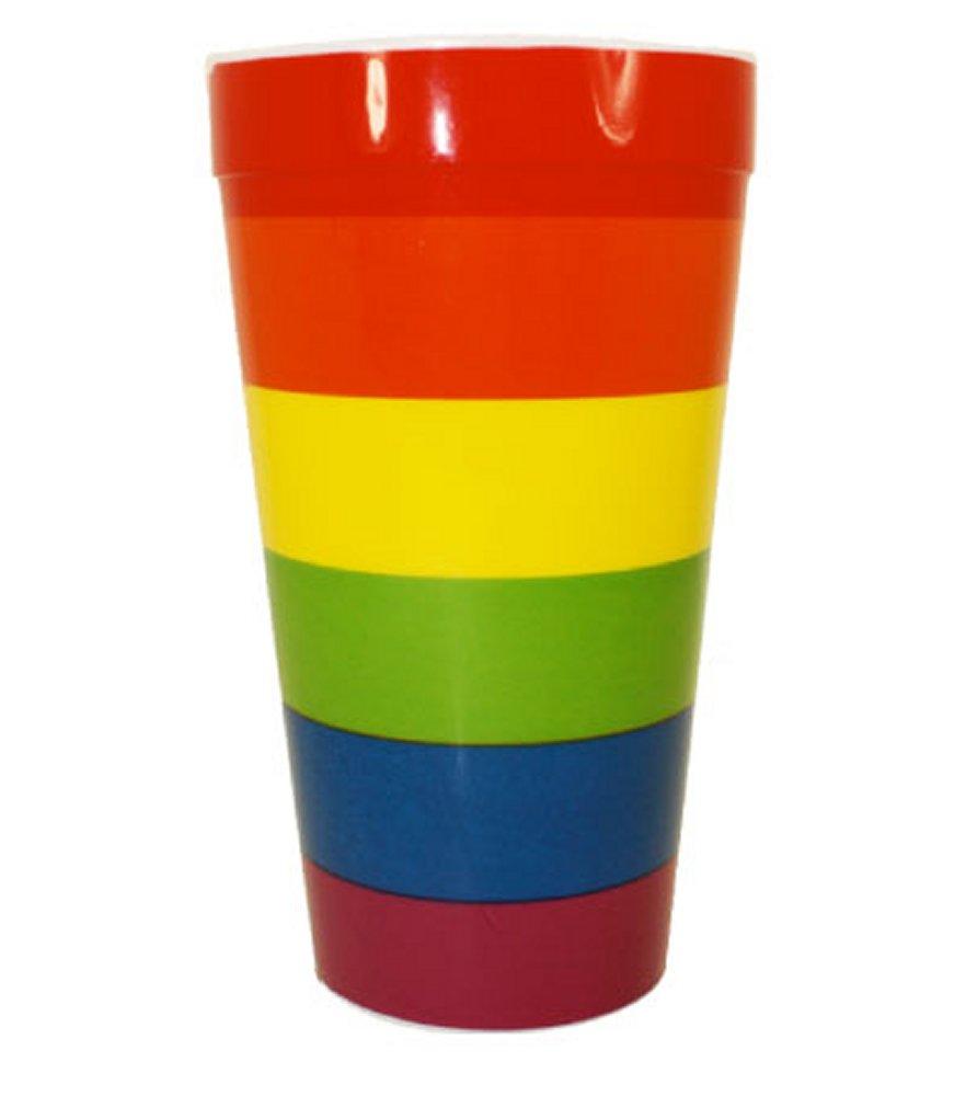 Rainbow Stripes Cup