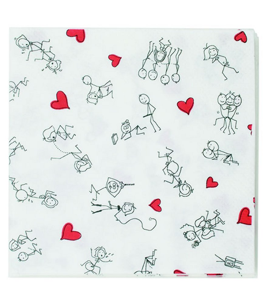 Dirty Dishes Stick Figures Napkins