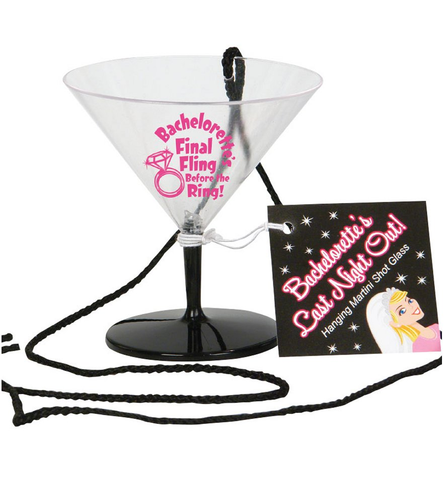 Bachelorette Final Fling Hanging Martini Shot Glass