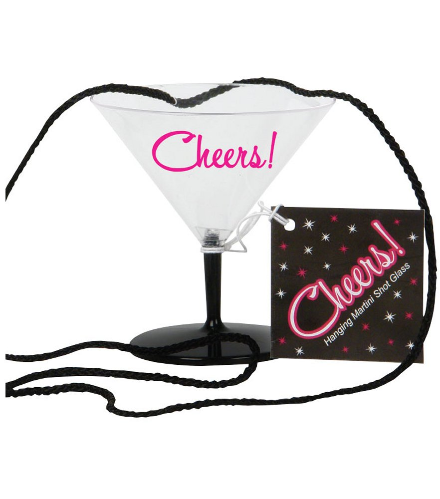 Cheers Hanging Mini Martini Shot Glass