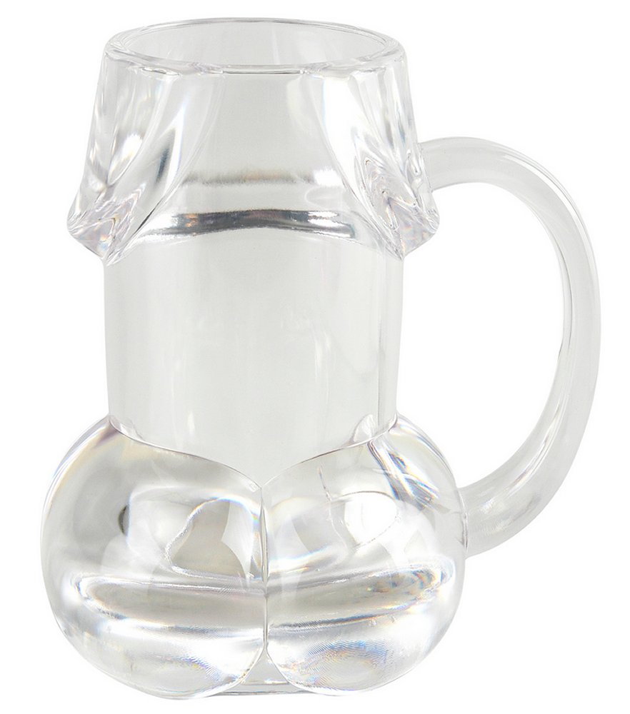 Pecker Beer Mug Clear