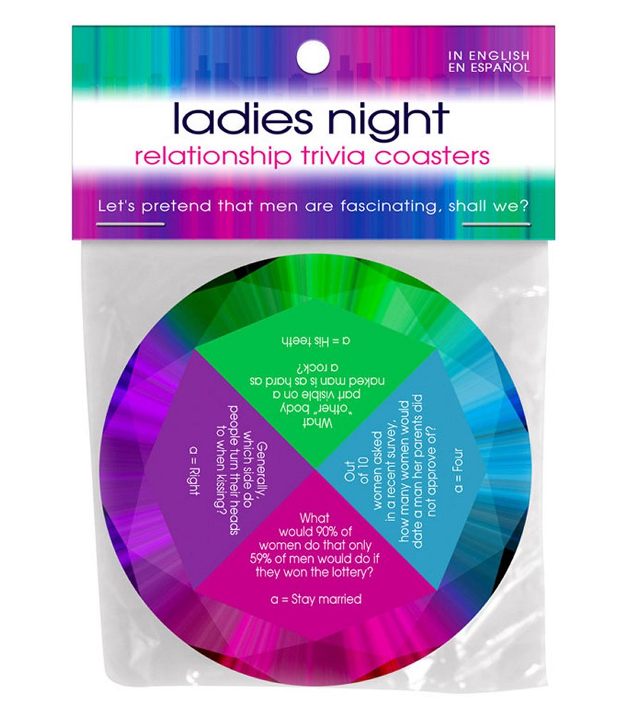 Ladies Night Relationship Trivia Coaster