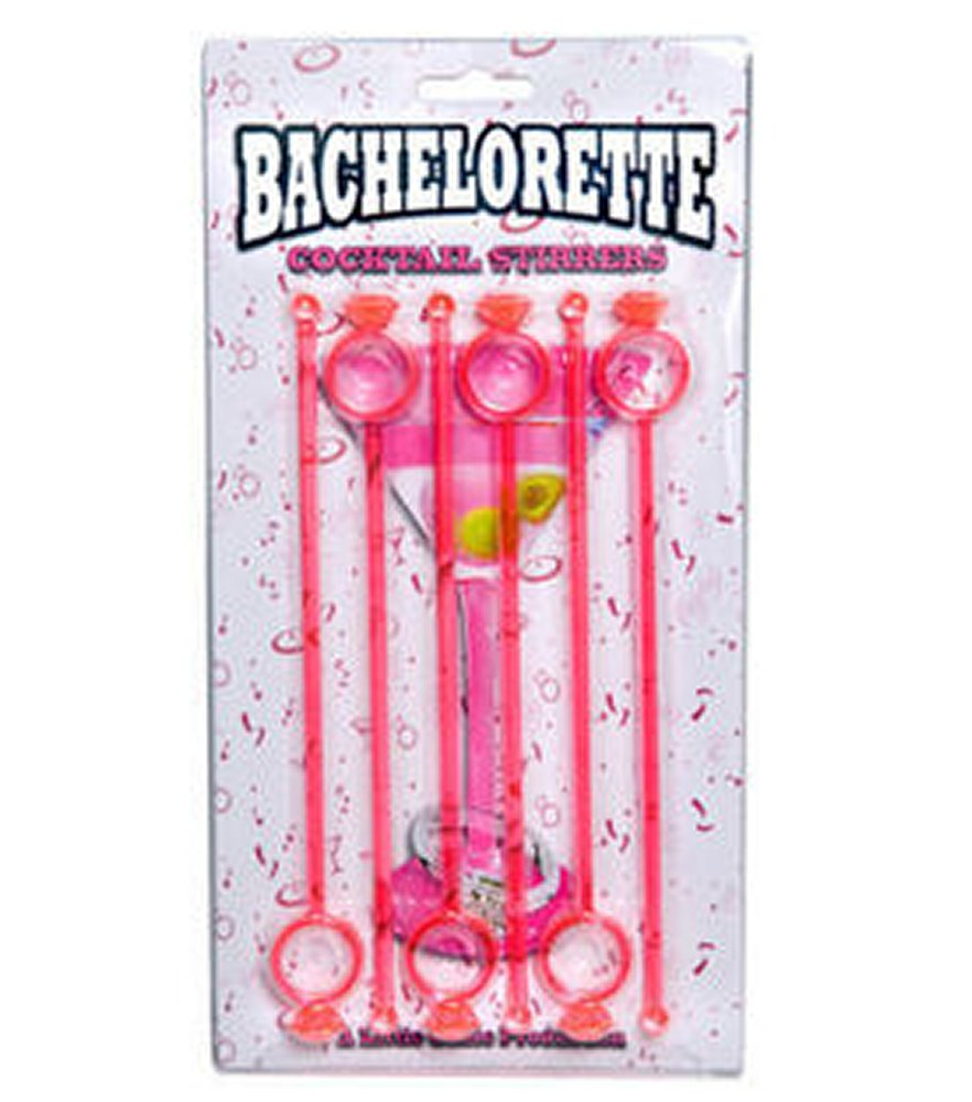 Bachelorette Engagement Ring Cocktail Stirrers